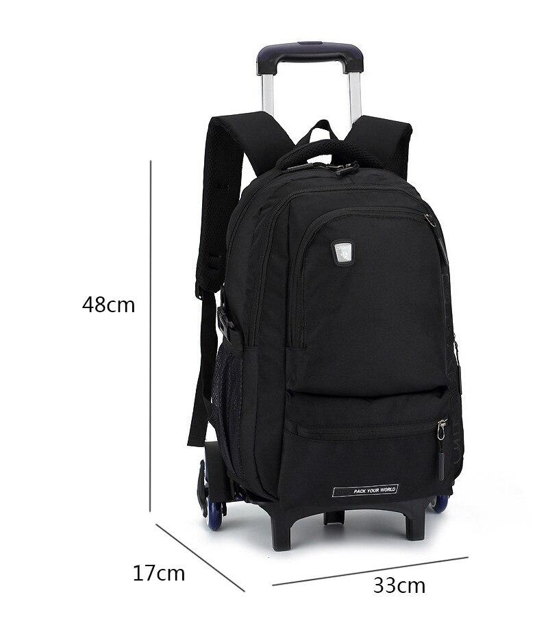 Trolley Children School Bags Mochilas Kids Backpacks With Wheel Trolley Luggage For Boys backpack Escolar Backbag Schoolbag