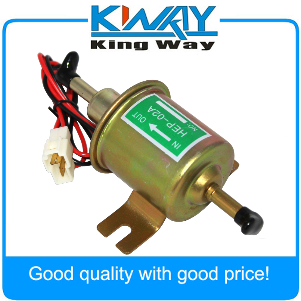 High quality 12V Gas Diesel Inline Low Pressure electric fuel pump HEP-02A 12V fuel pump for carburetor, motorcycle , ATV