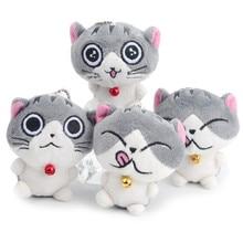 Original New Cute Cat Plush Doll Keychain Woman Bag Charms Faux Rex Rabbit Fur Toy Key Ring Car Trinket Wedding Gifts