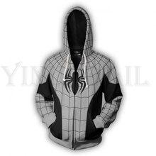 Men and Women Zip Up Hoodies Spiderman 3d Print Hooded Jacket Mravel 4 Movie Superheroes Sweatshirt Costume Harajuku Streetwear цены