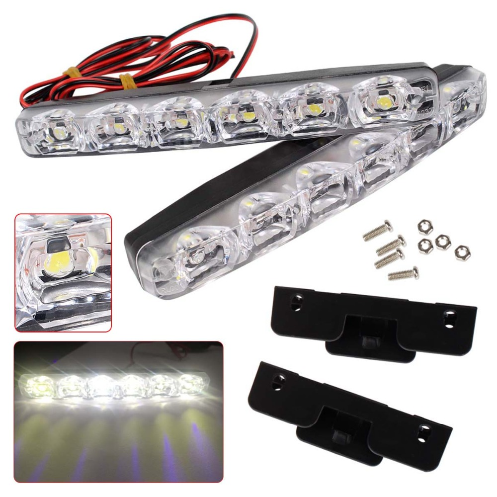 1 Pair Waterproof LED Car Day time Running Lights DC 12V Auto Fog Light Driving Lamps Car-syling Super Bright1 Pair Waterproof LED Car Day time Running Lights DC 12V Auto Fog Light Driving Lamps Car-syling Super Bright