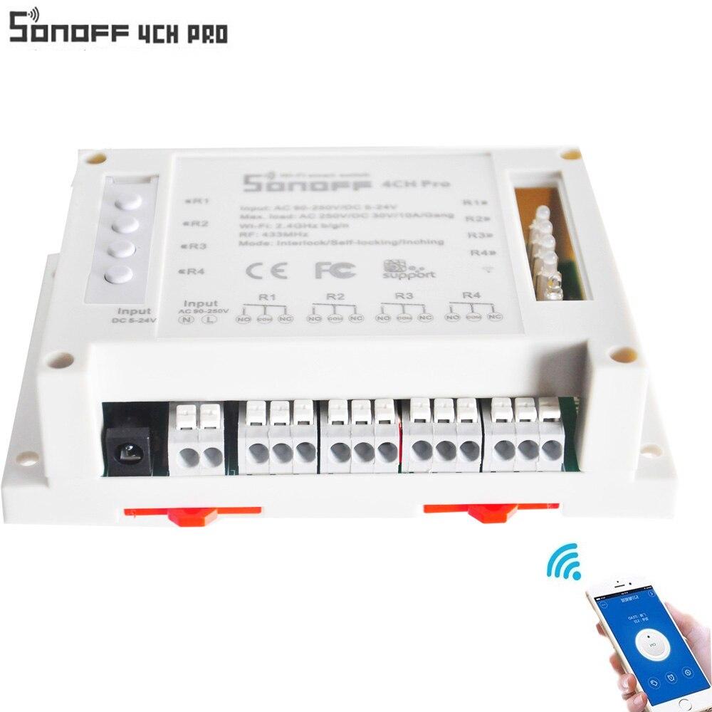 ITEAD Sonoff 4CH pro automazione casa Intelligente modulo di Controllo Senza Fili WIFI Smart Switch Casa Luce Alexa Remote Amazon Alexa
