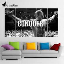 HD print 5 piece canvas art Arnold Schwarzenegger Conquer modern home decor wall pictures for living room painting-CU-696