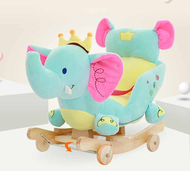 Baby swing Plush Horse Toy Rocking Chair Baby Bouncer baby Swing Seat Outdoor Baby Bumper Kid Ride On Toy Rocking Stroller Toy 5