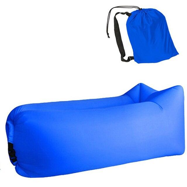 Aotu Light sleeping bag Waterproof Inflatable bag lazy sofa camping Sleeping bags air bed Adult Beach Lounge Chair Fast Folding 6