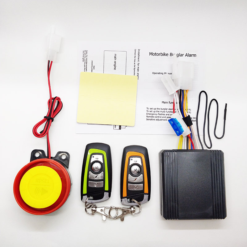 Motorcycle Alarm System With Remote Start System Scooter Anti-Theft Protection Security  With 2 Remote Control Smart Key