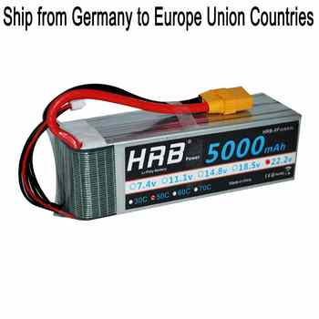 HRB 6S 22.2V 5000mah 50C 100C RC Lipo Battery For Helicopter RC Drone FPV Align 7.2 Racer Runner AKKU - DISCOUNT ITEM  21% OFF Toys & Hobbies