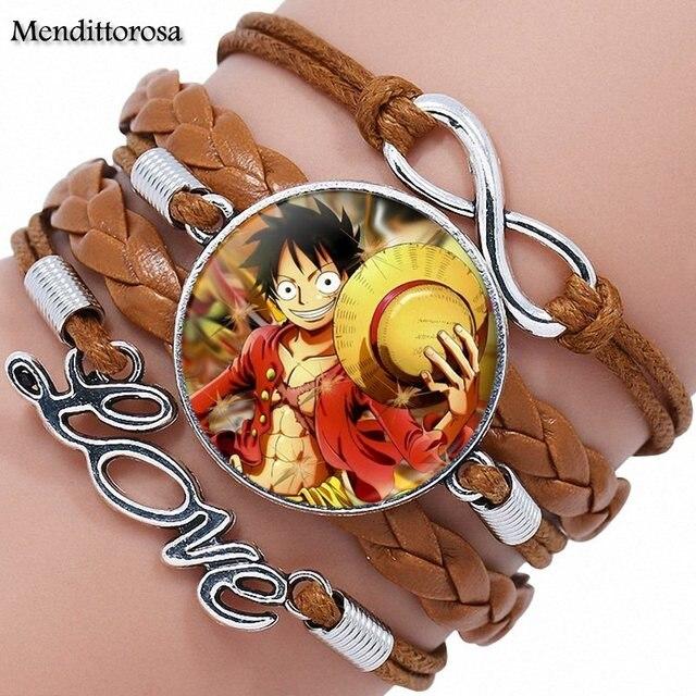 One Piece Monkey D Luffy Multilayer Leather Bracelet