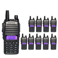 10pcs baofeng 82 uv82 uv 82 100% original baofeng walkie talkie ham FM radio station dual band 136 174 400 520 mhz Russian