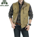 M~7XL Plus Size 2016 Autumn New Fashion Men Sleeveless Vest Jackets Casual VESTS Brand-Clothes CLOTHES Vests Outwear