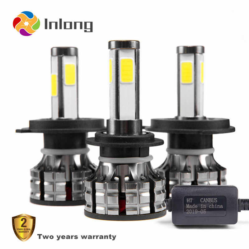 Inlong 4 Sides 360 Degree H7 led Headlight No Error H4 Led Canbus Car Headlamp Bulb H11 9005 9006 80W 14000LM Auto Fog Light 12V