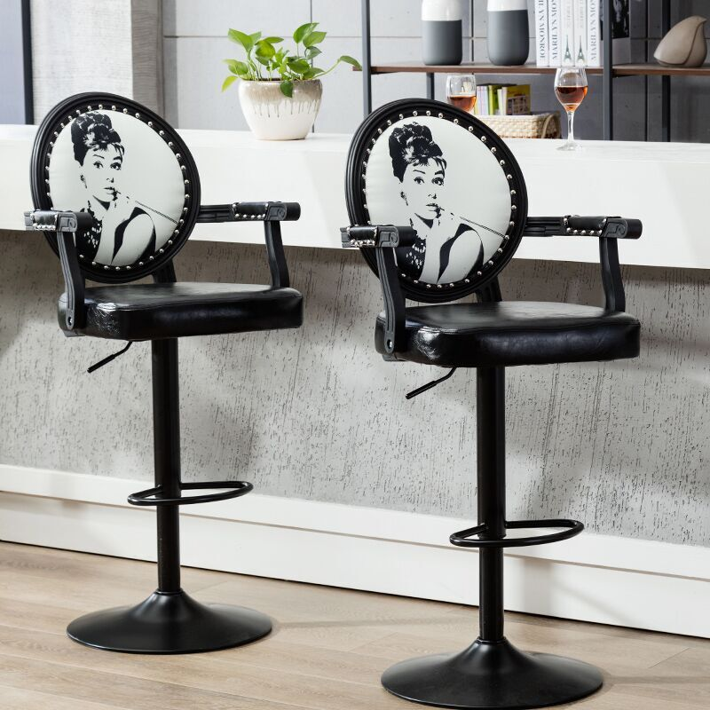 European Bar Stool Chair Modern Minimalist Rotating Bar Chair High Stool Cash Register Chair Back Stool Home Dotomy