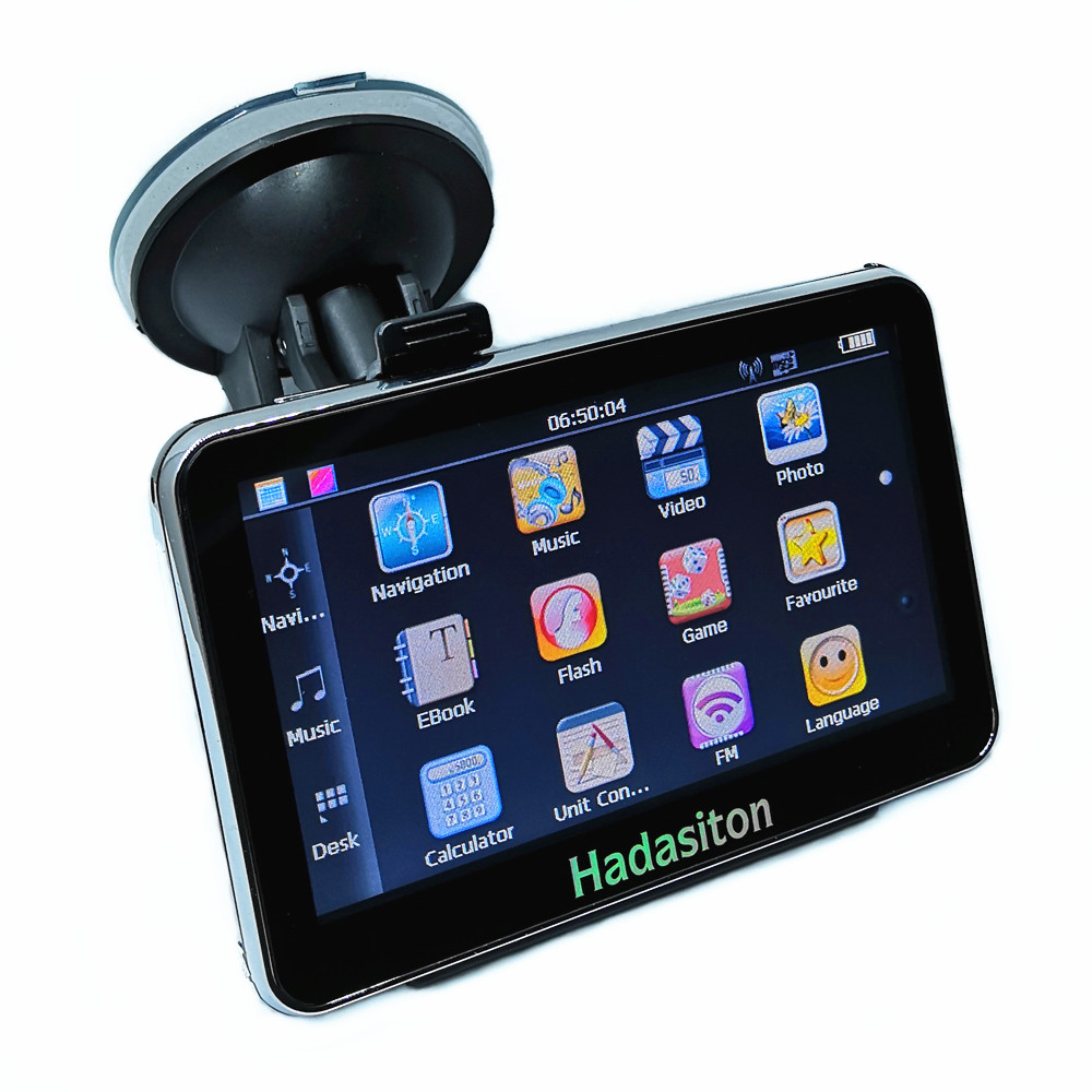 Car GPS Navigation Sat Nav Touch-Screen Fm-Transmitter 8GB Cpu800mhz Maps Hot-Sale Free-Latest