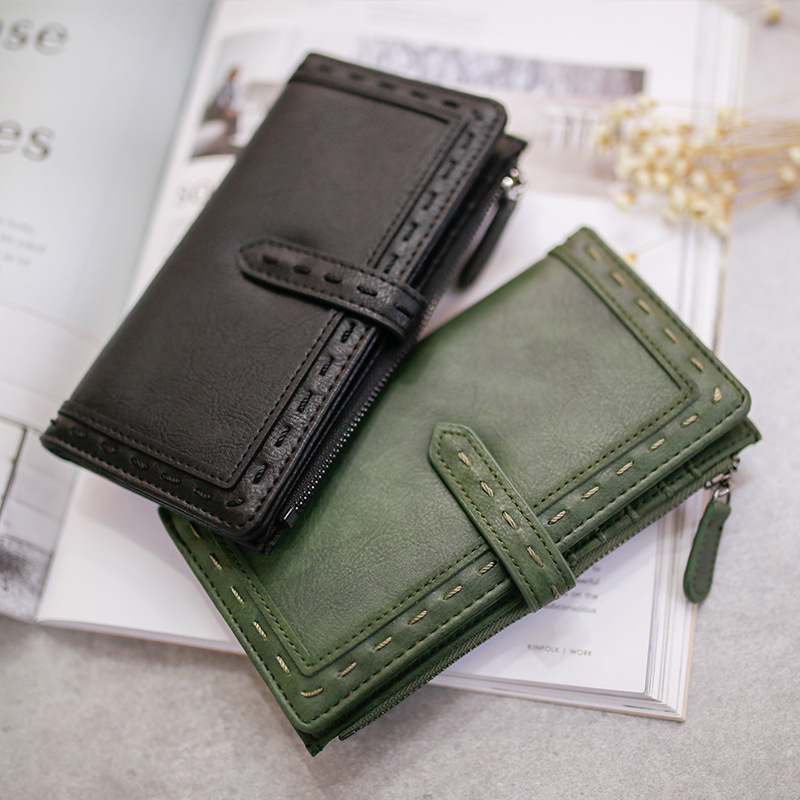 New Brand Women's Purse Fashion Lady PU Leather Long Women Wallet Female Purse Women Clutch Bag Money Coin Pocket Card Holder one button design longline woolen coat page 8