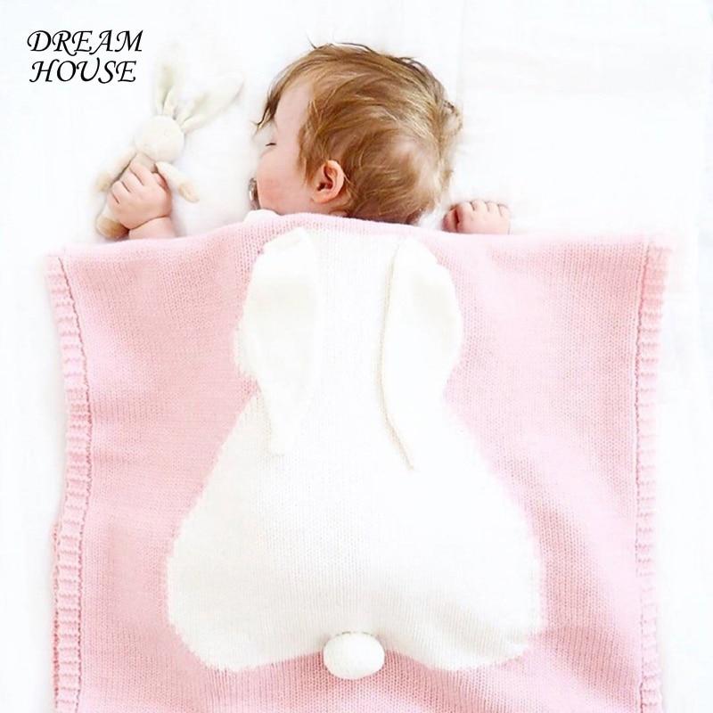 Kids Babies Soft Blankets Baby Rabbit Blankets Bedding