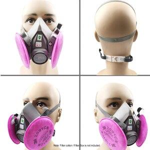 Image 5 - 3M 7 في 1/17 في 1 6200 الصناعية نصف الوجه اللوحة الرش التنفس قناع واقي من الغاز دعوى سلامة العمل تصفية الغبار قناع استبدال