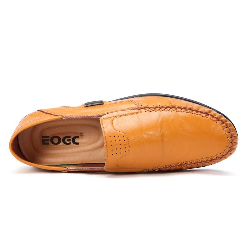 Plus Storlek Män Casual Skor Äkta Läder Moccasin Loafers Designer - Herrskor - Foto 3