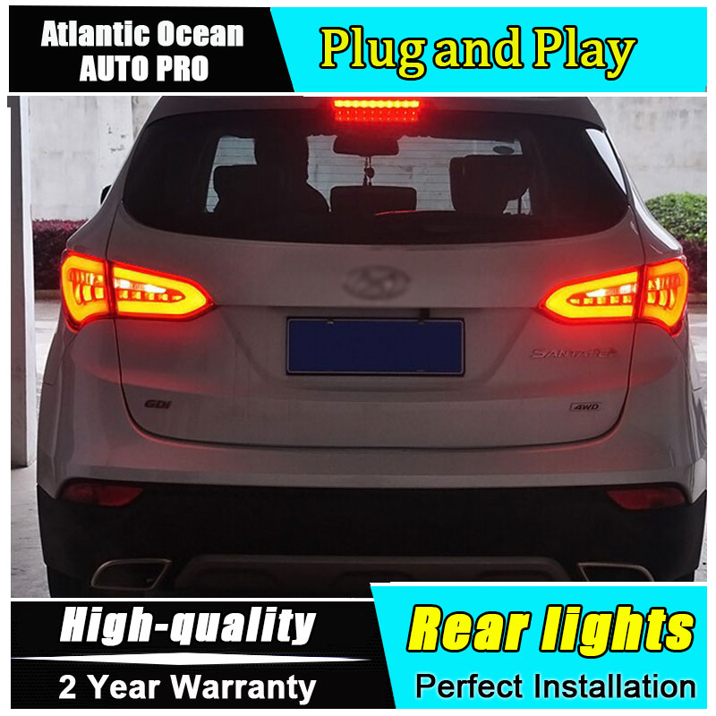Car Tail Lights >> 2013 2016 For Hyundai Ix45 Taillights Car Styling Led Guide Bar Fog Lamps For Santafe Led Rear Lights Drl Brake Park Signal Lamp In Car Light Assembly