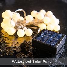 Solar String Lights 50/100led Fairy Christmas Bubble Crystal Ball Light for Outdoor Xmas Tree G0arden  Globe
