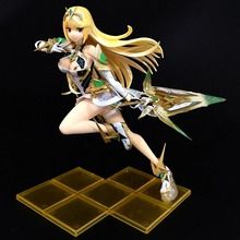 Anime Action Figure Xenoblade 2 Chronicles Game Fate Over Pyra MYTHRA Fighting Ver Model PVC Collection Toy 27cm japan anime fate apocrypha original banpresto collection figure ruler overseas limited