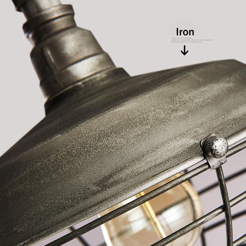 Luminaire suspendu de Style industriel Loft lampes suspendues rétro lampe pendante minière créative pour Luminaire de Restaurant Edison - 6