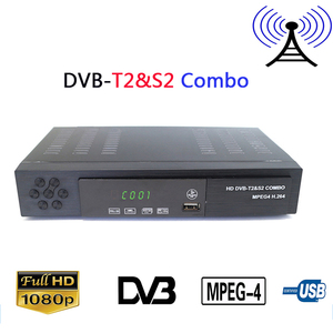 Image 1 - Digital Terrestrial DVB T2&S2 Combo Satellite TV Receiver HD 1080P H.264 / MPEG 2/4 Decoder DVB T2 Receiver S2 TV Tuner