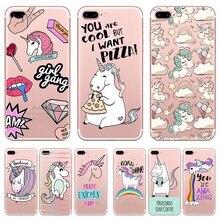 Cartoon Unicorn Patterned Soft Phone Case for iPhone
