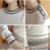 Coreano de Punto Las Mujeres Juegos de Falda de Punto Superior Suéter Del O-cuello Blanco Cintura Elástico de La Falda Trajes de Invierno 2 Unidades sets Eleganti Donna