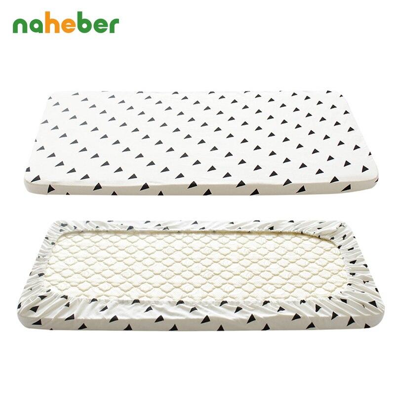 ₩Bebé cuna equipada Algodón puro lindo patrón cuna cama de bebé ...