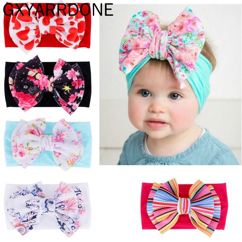 Girl Headwear Baby Corn Hair Band Kids Bow Headband Toddler Stretch Turban
