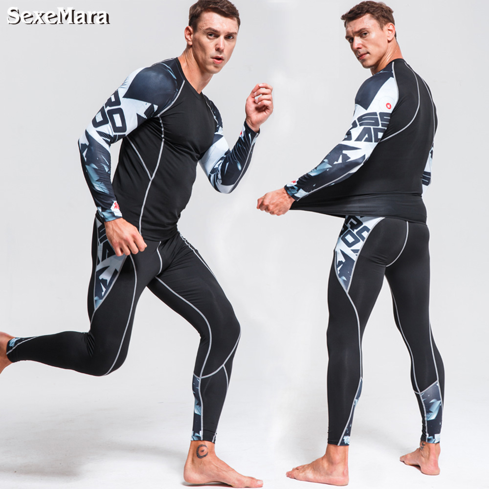 41a25b55e6886 Detail Feedback Questions about Men's Gym training Fitness Sportswear  Athletic physical workout Clothes Suits Running jogging Sports clothing  Tracksuit Dry ...