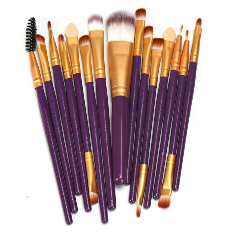 15pcs Makeup Brushes Set Professional Makeup Hair Brush tool Foundation Make Up Paint Brush Concealer Cleaning Brushes Cosmetics msq 15pcs professional makeup brushes set foundation fiber goat hair make up brush kit with pu leather case makeup beauty tool