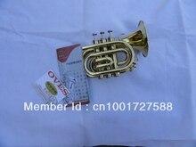 Marke oves bb Tasche Trompete Aussehen Goldene braun Horn 123mm Taschentrompete Professionelle Musikinstrument