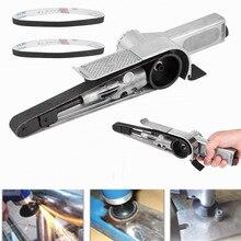 Полировщик шлифовальный станок инструмент 20 мм пневматический ленточный шлифовальный станок для воздушного компрессора W/шлифовальный ремень пневматический инструмент