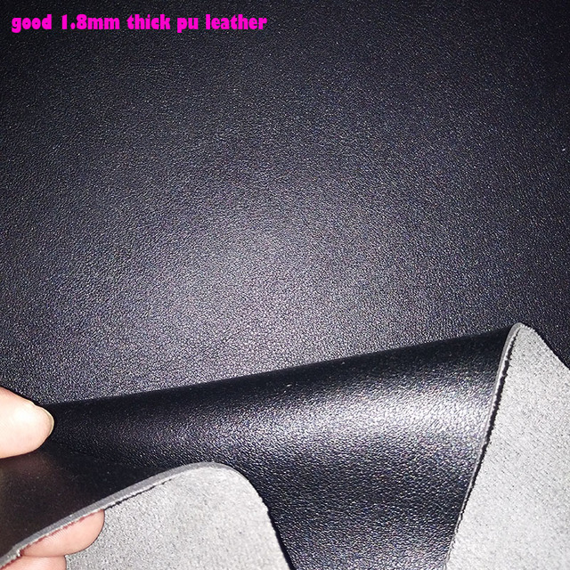 Хорошее качество черного цвета из искусственной кожи ткани для обуви Толщина 1,8 мм Искусственная кожа ткани для пояса Синтетическая кожа тк...