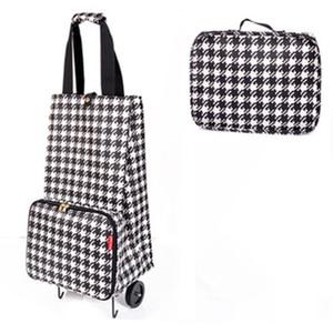 Image 3 - 2019 New Folding Shopping Bag Shopping Cart Small Pull Cart Women Buy Vegetables Bag Wheels Bags Shopping Organizer Package bag