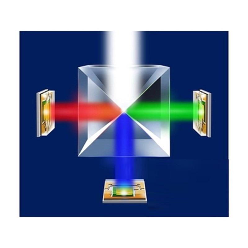 12.7mm K9 Cube Defective Cross Dichroic Prism RGB Combiner Splitter Glass Decor Square Cube RGB Teaching Tools Decoration