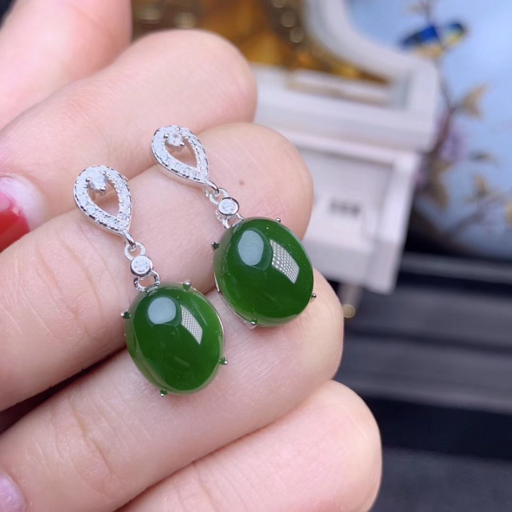 Hetian Jasper earring Natural Jasper Free shipping 925 sterling silver Fine gems jewelry For men or women Hetian Jasper earring Natural Jasper Free shipping 925 sterling silver Fine gems jewelry For men or women
