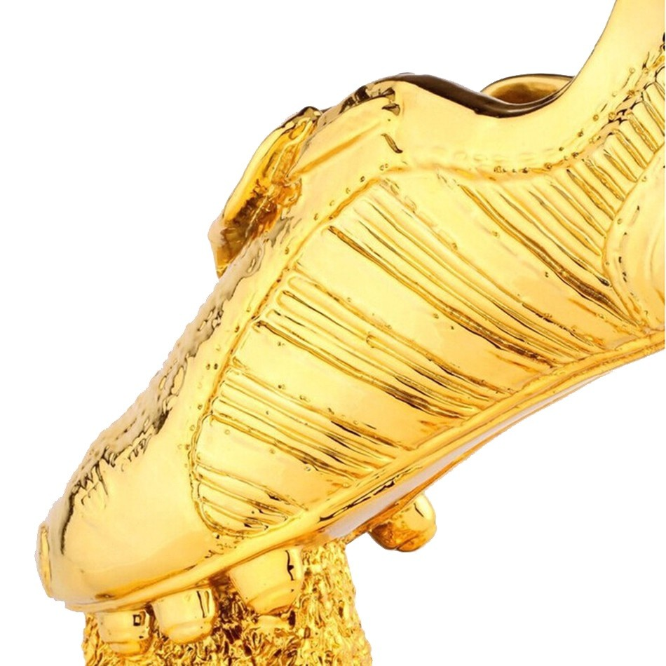 89934ca48e072b 18k All Gold Resin Football Boot Champions Award Shoes Replica The