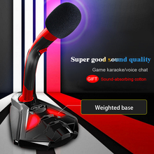 Computer cable with USB Microphone Speaker Live Game Mic Music Player Singing Recorder K song