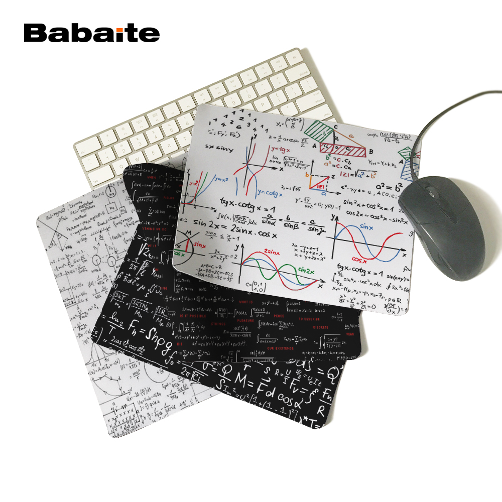 Babaite Math Formula Rectangle 180X220X2MM 250X290X2MM Computer Mouse Pad Not Overlock Edge Mat