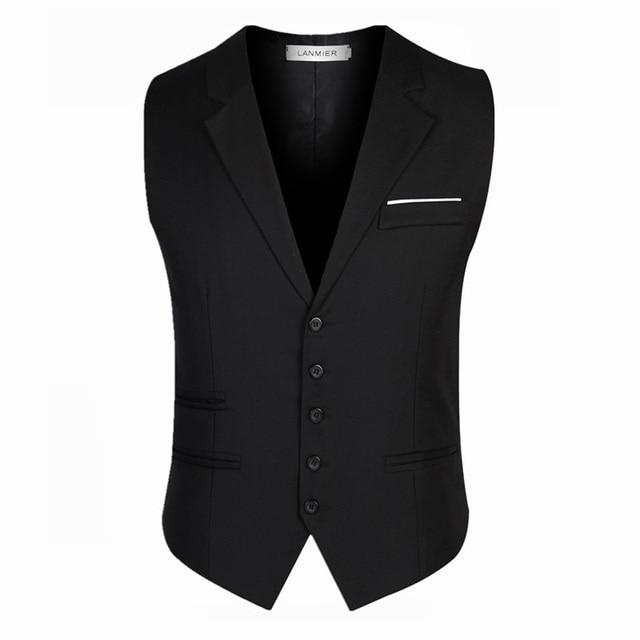 2016 новое поступление мужской костюм жилет высокое качество марка мода пиджак тонкие мужские сплошной цвет жилет мужчины пиджак 3XL
