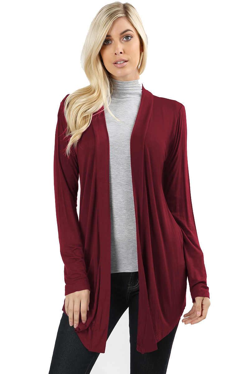 2020 primavera otoño suéter de punto Cardigan mujer abierto puntada chaqueta de invierno suelta yardas grandes Joker jerséis largos abrigo de talla grande
