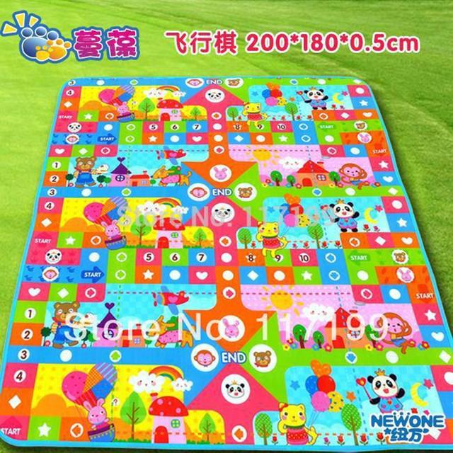 Nova Qualidade Chegada Do Bebê Grande Jogo Mat200 * 180 CM Vôo Xadrez Crianças crianças Praia Mat Picnic Tapete Bebê Crawling Mat CM-009