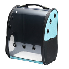 2019 New Arrival Breathable Portable Backpack 42x35x24cm Travel Solid Pet Bag Cat Dog Blue Space Transparent