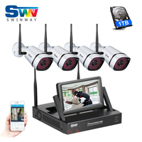 Plug And Play Wireless NVR Kit 7 Inch LCD Screen P2P 720P HD IR WIFI IP