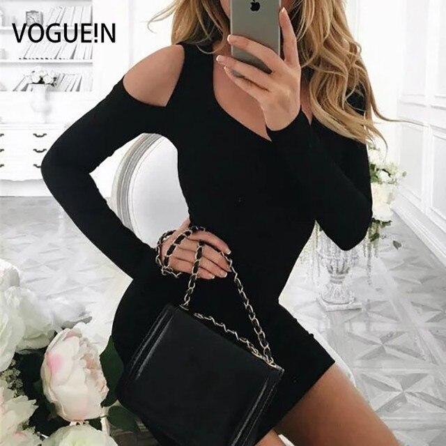 Vogue! n nieuwe petites womens/junioren sexy koude schouder mini knit party club dress groothandel 3 kleuren
