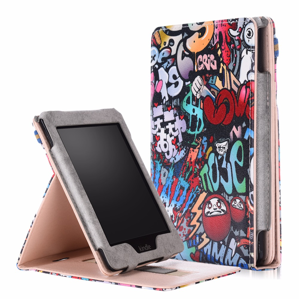 Case For Amazon Kindle Paperwhite 1 2 3 4 2015 2017 PU Smart Case For Kindle Paperwhite 2018 2019 Case With Hand Holder