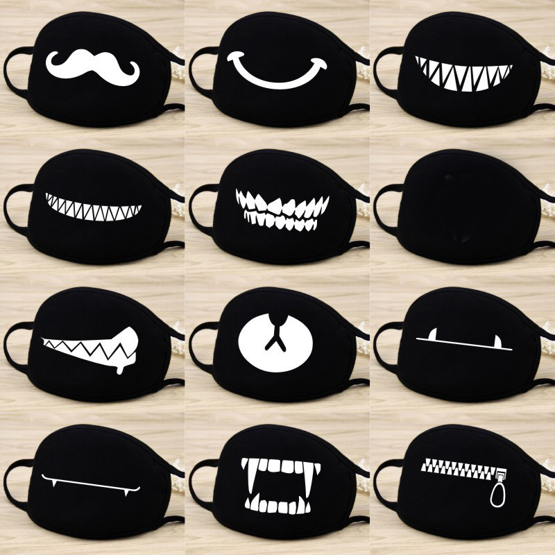 Image 3 - Stop Air Pollution Home Cartoon Lovely Cotton Masks Keep Warm Women Clothing Accessories Camouflage Mouth Muffle Respirator-in Party Masks from Home & Garden