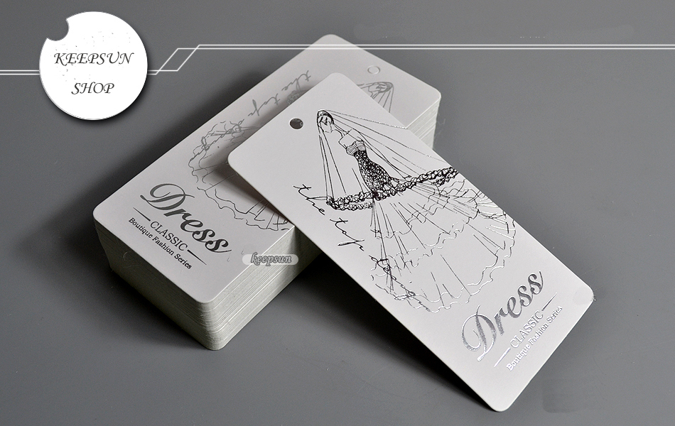 Free Design Shipping Wedding Dress Tag Customized Paper Hang Clothing Swing Labels Garment Bag Printed Tags Mg021 In From Home
